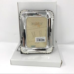 Melannco Silver Plated Photo Frames-NIB-2pc Bundle